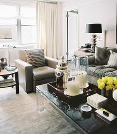 masculine coffee table styling {Me likey! :-D ~The Style Maven}