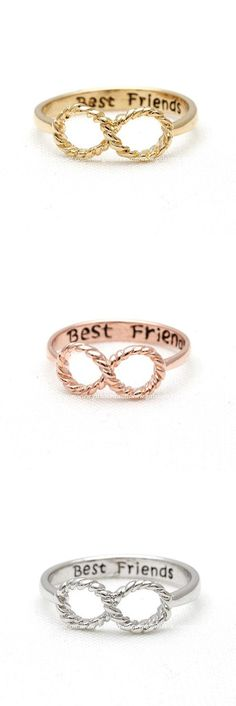 which one is ur favorite? /#infinity, #bestfriend #ring
