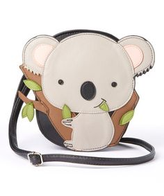 Another great find on #zulily! Black Koala Bear Crossbody Bag #zulilyfinds