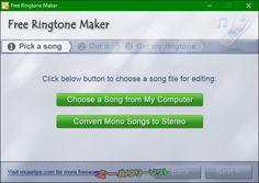 Free Ringtone Maker 2.4.0.2881  Free Ringtone Maker--起動時の画面--オールフリーソフト