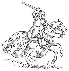 Coloriage Armure Chevalier.46 Meilleures Images Du Tableau Coloriages Chevaliers Knights