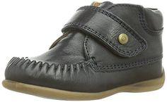 BellyButton Klett - Mokassin - Zapatos primeros pasos de cuero para niño, color azul, talla 24