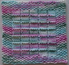 Making It With Help: Windowpanes Knitted Dishcloth Pattern