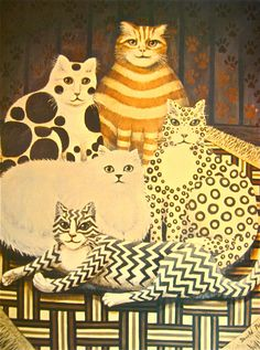 Cat art  from England--Derold Page