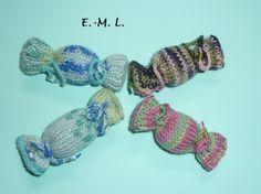 * Bonbon nach Wahl* von Shop Kunterbunt auf DaWanda.com Shops, Crochet Earrings, Etsy, Jewelry, Candy, Knitting, Jewellery Making, Tents, Jewerly