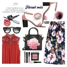 """Yoins 45 - Floral mix"" by nataskaz ❤ liked on Polyvore featuring Calvin Klein, Prada, Concord, Bobbi Brown Cosmetics, yoins, yoinscollection and loveyoins"