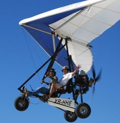 San Felipe Ultralight Plane - This is a must do fun activity during your San Felipe vacation.  Your are guaranteed to get breathtaking views of San Felipe has you fly high over the mountains and Sea of Cortez.  This ultra light plane carries 2; pilot and passenger.  #sanfelipe #ultralightplane #thingstodo