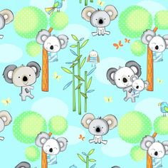 3329-11 , Koala Party by Swizzle Stick Studio, Studio E Fabrics, Inc.