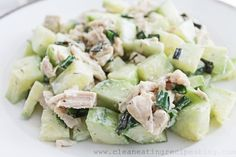 Cucumber and Chicken Salad