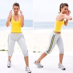 Maria Menounos went from a size 14 to a size 4. To repeat her success do this routine three times a week, as well as at least four cardio workouts of up to one hour.