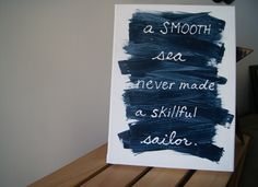 Nautical Signs | chramberries | Blue nautical motivational sign | Online Store Powered ...