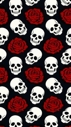 Crânios Background - Decoration Fireplace Garden art ideas Home accessories Gothic Wallpaper, Skull Wallpaper, Dark Wallpaper, Wallpaper Iphone Cute, Cellphone Wallpaper, Cute Wallpapers, Wallpaper Backgrounds, Skeleton Art, Skulls And Roses