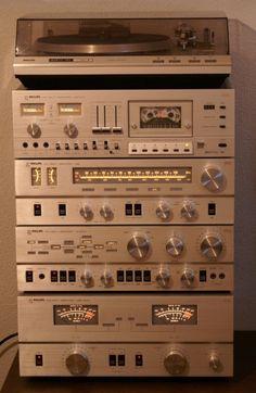 Philips US Laboratories series: MK II Stereo Turntable, Tapedeck, Tuner, Pre Amplifier, Power Amplifier Stereo Turntable, Hifi Speakers, Hifi Audio, Stereo Amplifier, Som Retro, Mini System, Audio Rack, Retro Radios, Audio Sound