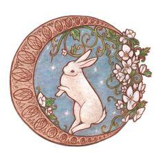 Dancing Moon Rabbit by Choestoe.deviantart.com on @deviantART