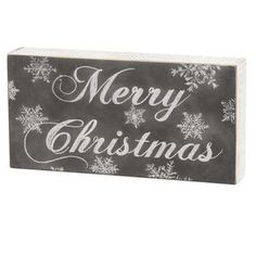 Typography Box Sign-Merry Christmas