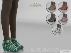 Sims 4 CC's - The Best: Madlen Edgardo Shoes by MJ95