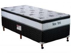 Cama Box Solteiro Mola Pocket 88x188cm - Paropas New York