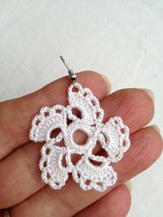 PDF Tutorial Crochet Pattern...Lace Dangle Earrings 12