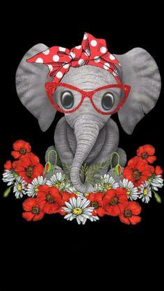 Elephant Artwork, Elephant Wallpaper, Elephant Pictures, Elephant Love, Cute Animal Pictures, Iphone Wallpaper, Regard Animal, Elephant Tattoos, Hippie Art