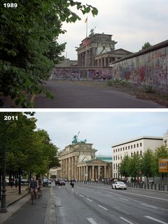 Then & Now: Brandenburger Tor 1989 and 2011