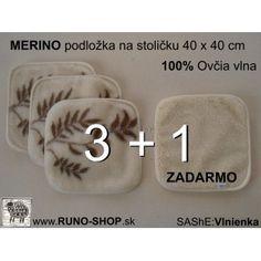 Podložka na stoličku ovčie runo  MERINO 40 x 40 cm AKCIA / Made from 100% Merino Wool