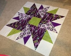 "50"" Double Aster Quilt Block with tricks for manipulating the design in EQ  