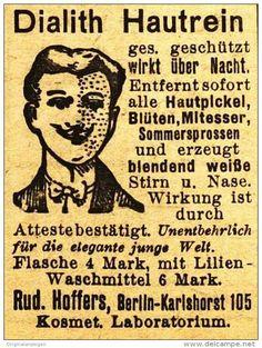 Original-Werbung/ Anzeige 1920 - DIALITH HAUTREIN / HOFFERS - BERLIN - ca. 35 x 45 mm