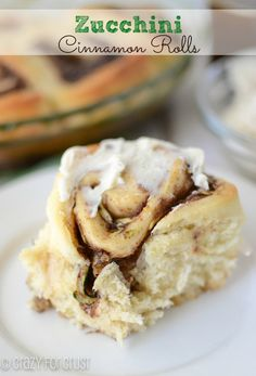 Zucchini Cinnamon Rolls by crazyforcrust.com | A fluffy cinnamon roll filled with zucchini - the perfect way to use up zucchini!