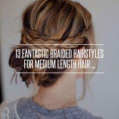 13 Fantastic Braided Hairstyles for Medium Length Hair