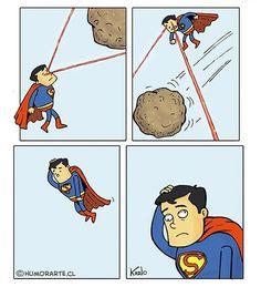 El estrabismo de Superman. #humor #risa #graciosas #chistosas #divertidas