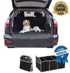 SUV Car Cargo Trunk Covers Kids Dogs Pet Animal Hospital Waterproof Large Black #BarkingBarrier