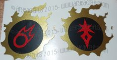 Individual Colored/Layered FFXIV Job & Class Vinyl Decals (Including Heavensward Jobs) - Choose 3 colors