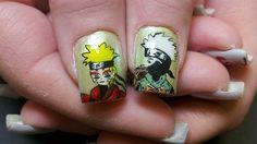 Naruto nail art, I couldn't quite get the eyes right - Dehily Naruto Nails, Anime Nails, Moss Wall Art, Moss Art, 3d Nail Art, 3d Nails, Watermelon Nails, Japanese Nail Art, Spring Nail Art