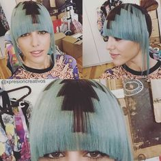 Nice hair for a beautiful eyes ! Hair Stenciling, Hair With Flair, Pixel Color, Fashion Colours, Hair Designs, Beautiful Eyes, Blue Hair, Hair Trends, Color Patterns