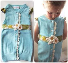 Upcycled Sweater Children's Dress One of a Kind by KingSoleil, $74.00