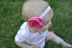 How to Make Baby Headbands {Satin and Felt Flowers} | Fabulessly Frugal: A Coupon Blog Sharing Gift Ideas, Black Friday Ads, Printable Coupons, DIY, How to Extreme Coupon, and Make Ahead Meals