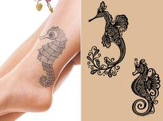 Tribal Seahorse Tattoo