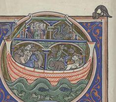Love how the artist shows overdue raven outside the frame altogether. Bibliothèque de l'Arsenal, Ms-1186 réserve