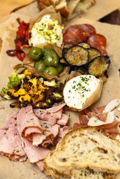 Crostini Sampler Platter by HeirloomLA Catering, via Flickr
