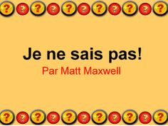 eTools for Language Teachers - Free French Language PowerPoint Exercises French Teacher, French Class, German Words, English Words, Teaching Strategies, Teaching Tools, French Conversation, French Songs, Free French