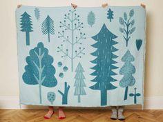Big Shapes Pattern design inspiration // Trees Blanket | Donna Wilson