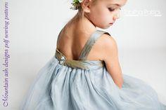 Allegra dress pdf sewing pattern in girls sizes newborn -10 years