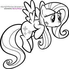 Friendship Is Magic Fluttershy Coloring Pages 1200x