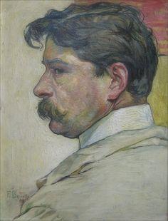 Fritz Boscovits · Autoritratto · 1909 · Ubicazione ignota
