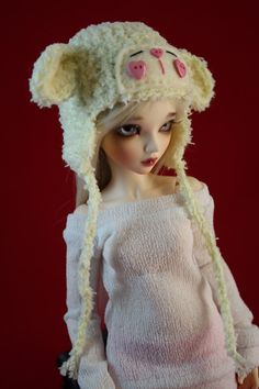 How cute is this and can I get one in my size???Yellow Lamb Hat for MSD BJD 1/4 Dollfie Minifee by guppykisses, $12.99