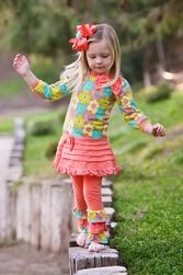 Bunnies Picnic - Trish Scully Feeling Groovy Tunic and Leggings Set - Boutique Clothing for Girls and Boys Miss Priss, Girls Designer Clothes, Cool Sculpting, Tunic Leggings, Scully, Boutique Clothing, Baby Kids, Kids Fashion, Girl Outfits