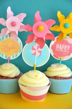 Pinwheel Party PRINTABLE DIY Full Birthday by lovetheday on Etsy, $35.00