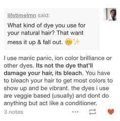 Colored hair tip