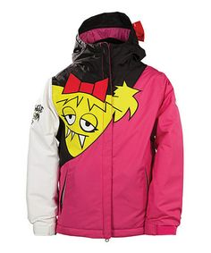Love this Black & Yellow Snaggle-Sister Jacket - Girls by 686 on #zulily! #zulilyfinds