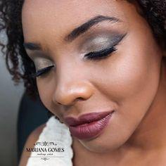 Maquiagem pele negra  #maquiagem #pelenegra #makeup #marianagomesmk   www.facebook.com/marianagomesmk